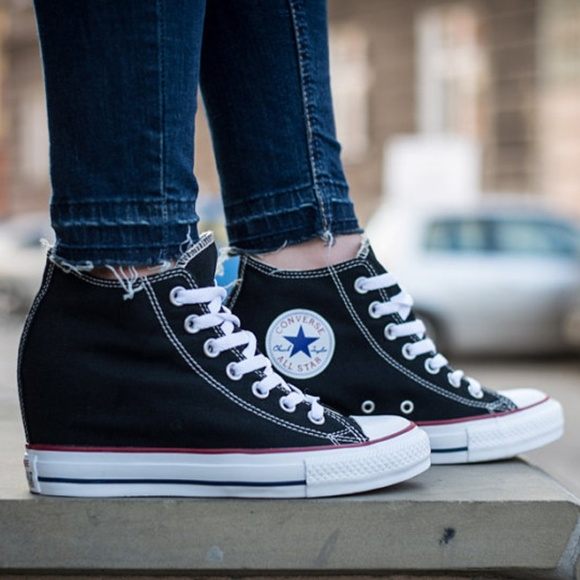 20ed764ced5 Converse Shoes - Chuck Taylor All Star Lux Wedge - Converse Black